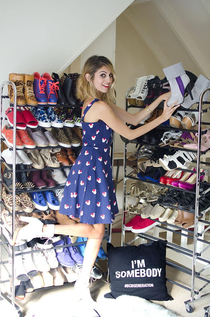 fashion blogger shoe rack