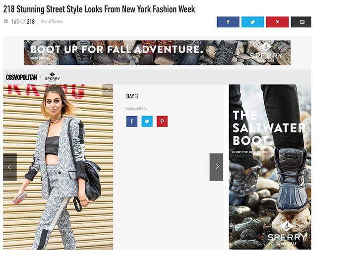 Cosmopolitan Magazine NYFW Street Style