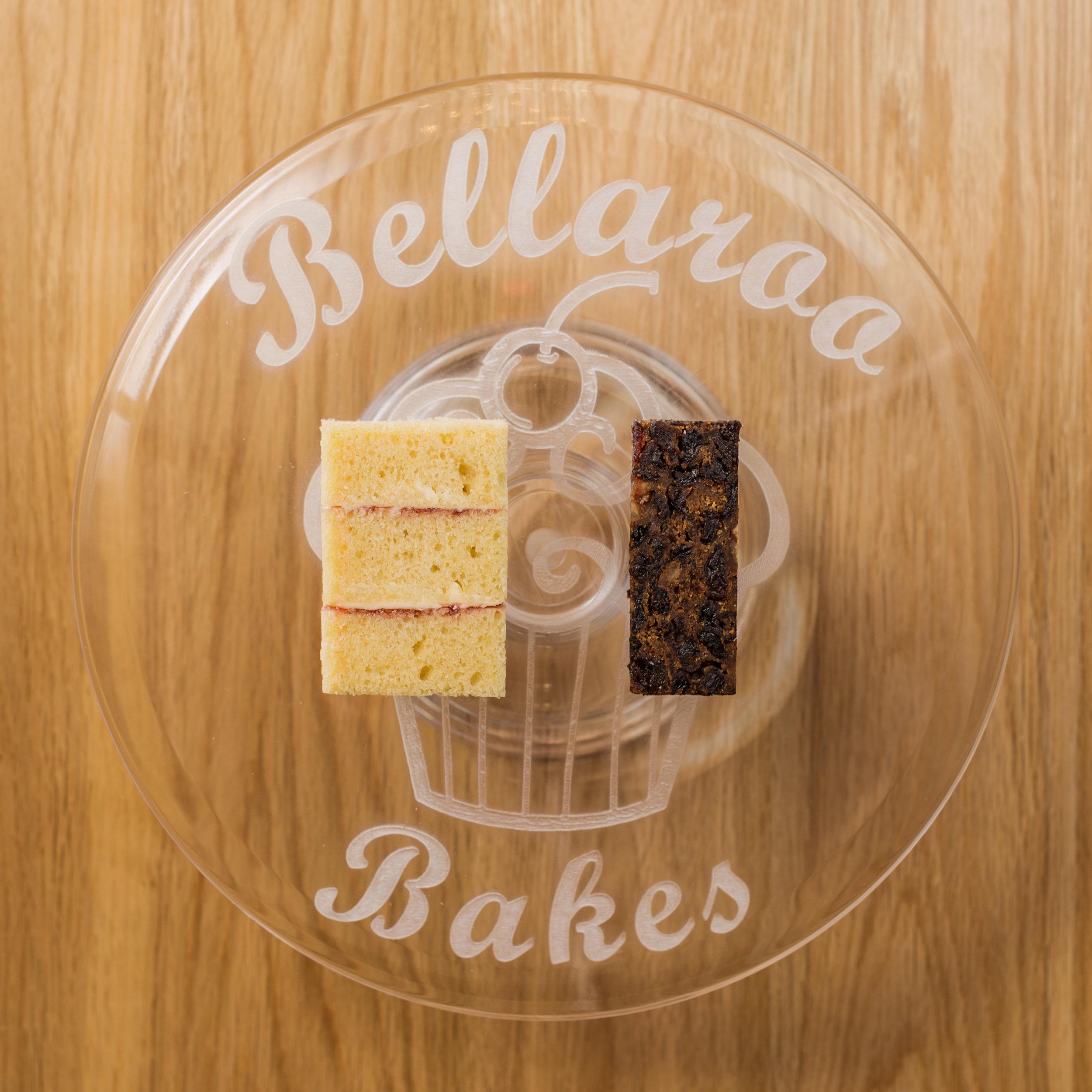 """2""""x1"""" Victoria Sponge & 1""""x1"""" Fruit cake"""