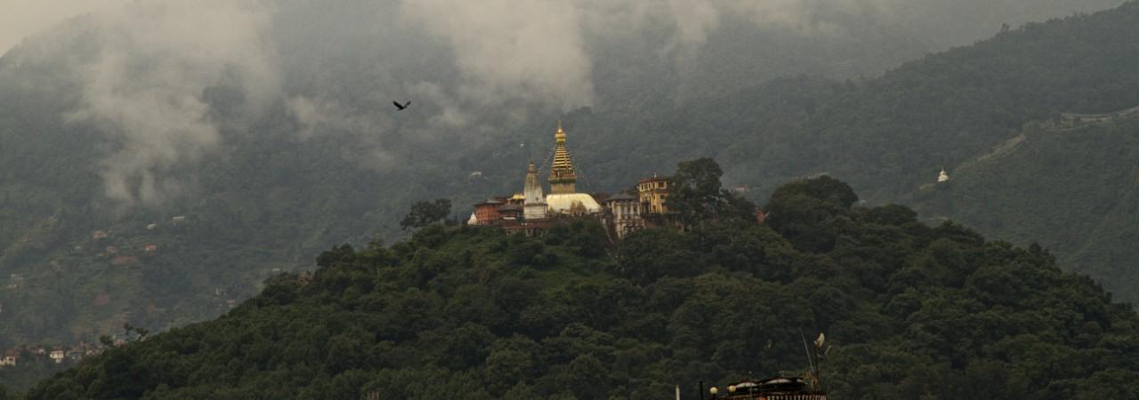 Swayambhu Stupa known as the Monkey temple.