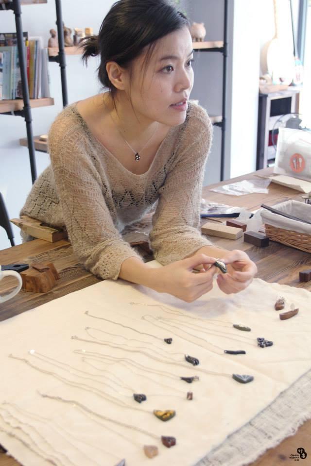 Wooden handmade jewelry workshop in Taichung, Taiwan, 2014
