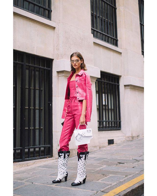 #ModelOffDuty Photographed for @harpersbazaarsg #ParisFashionWeek #PFW #SS20