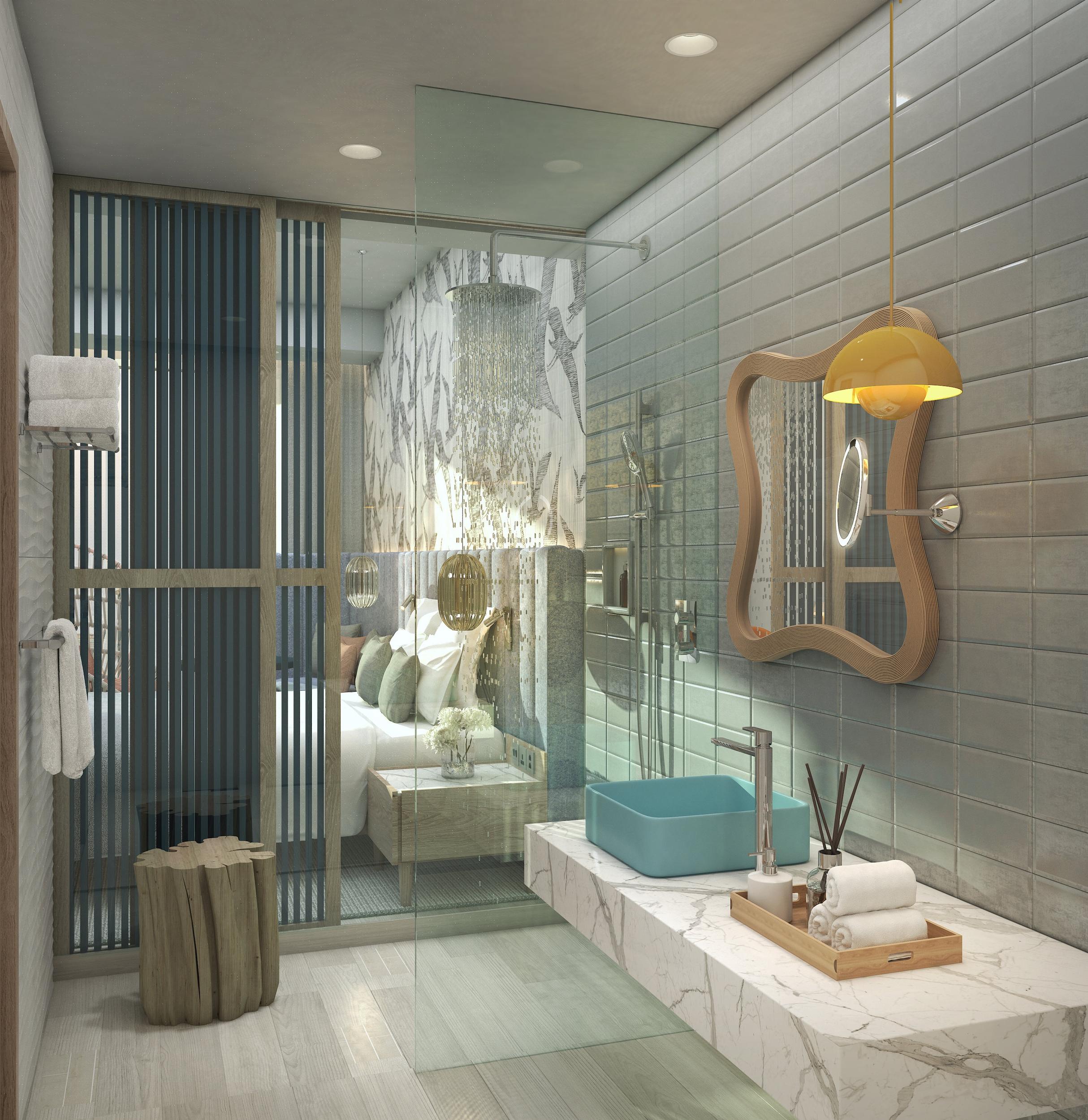 Bathroom - Blue Timber and light headboard.jpg