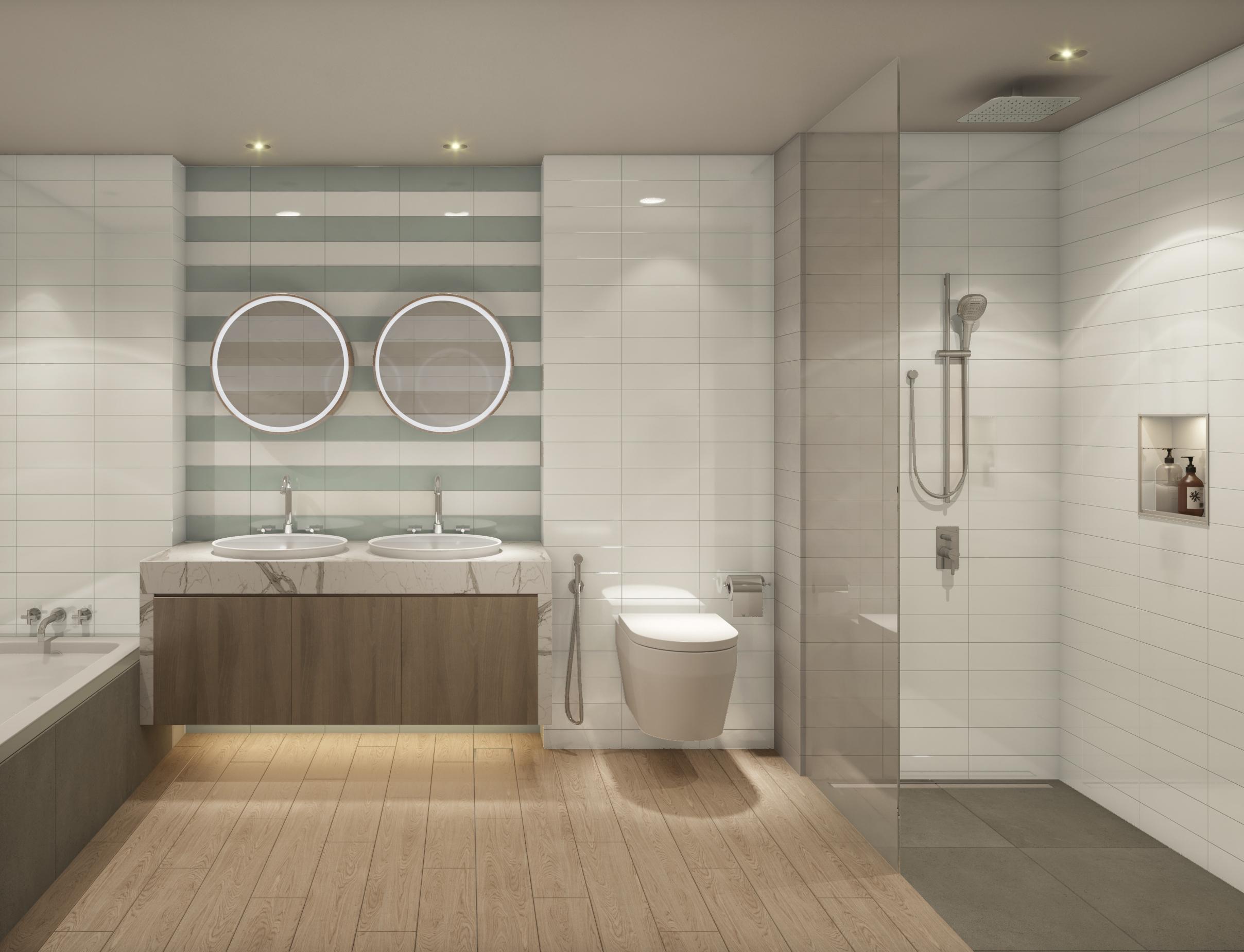 Green Scheme: Master Bathroom