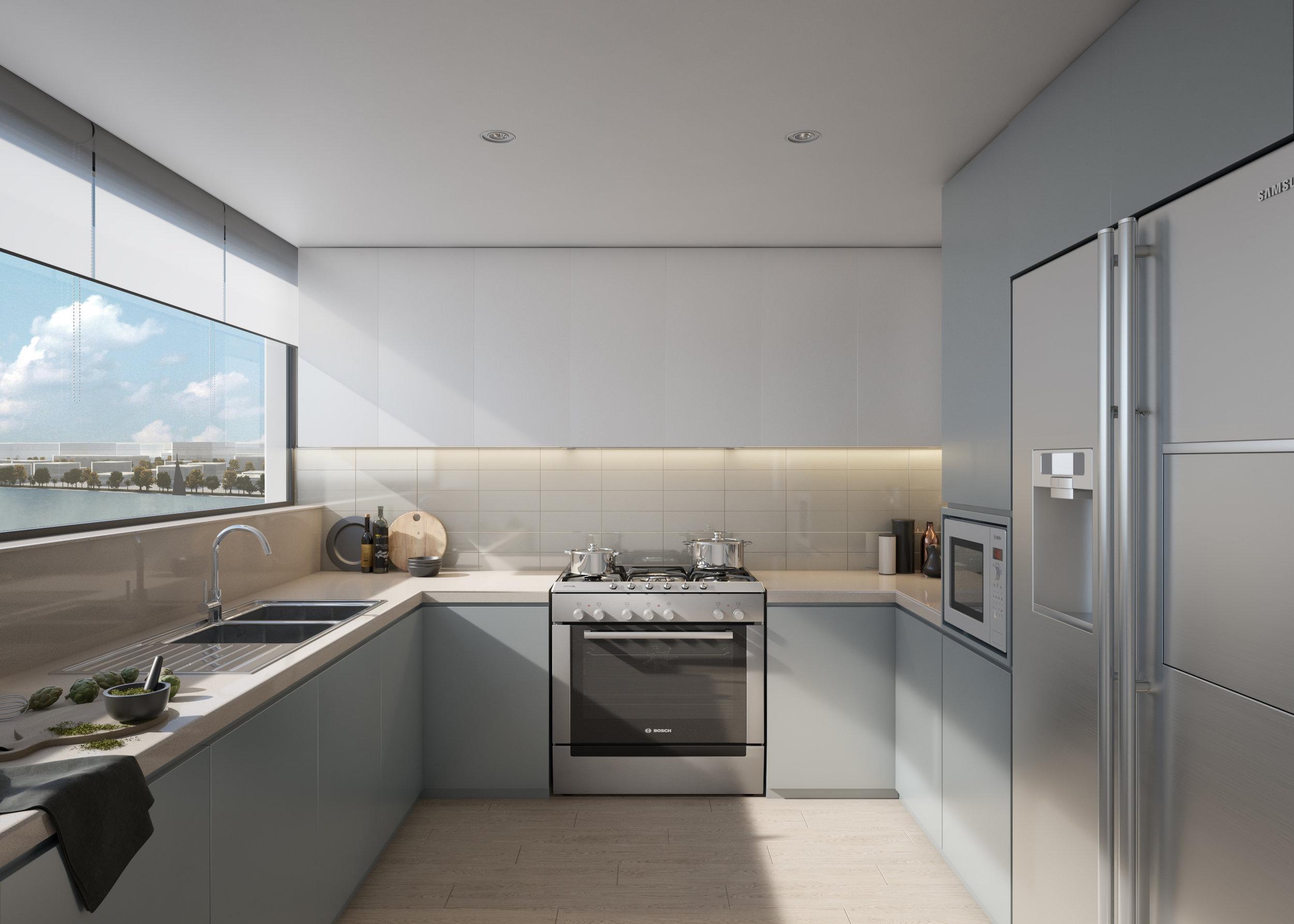 Blue Scheme: Kitchen