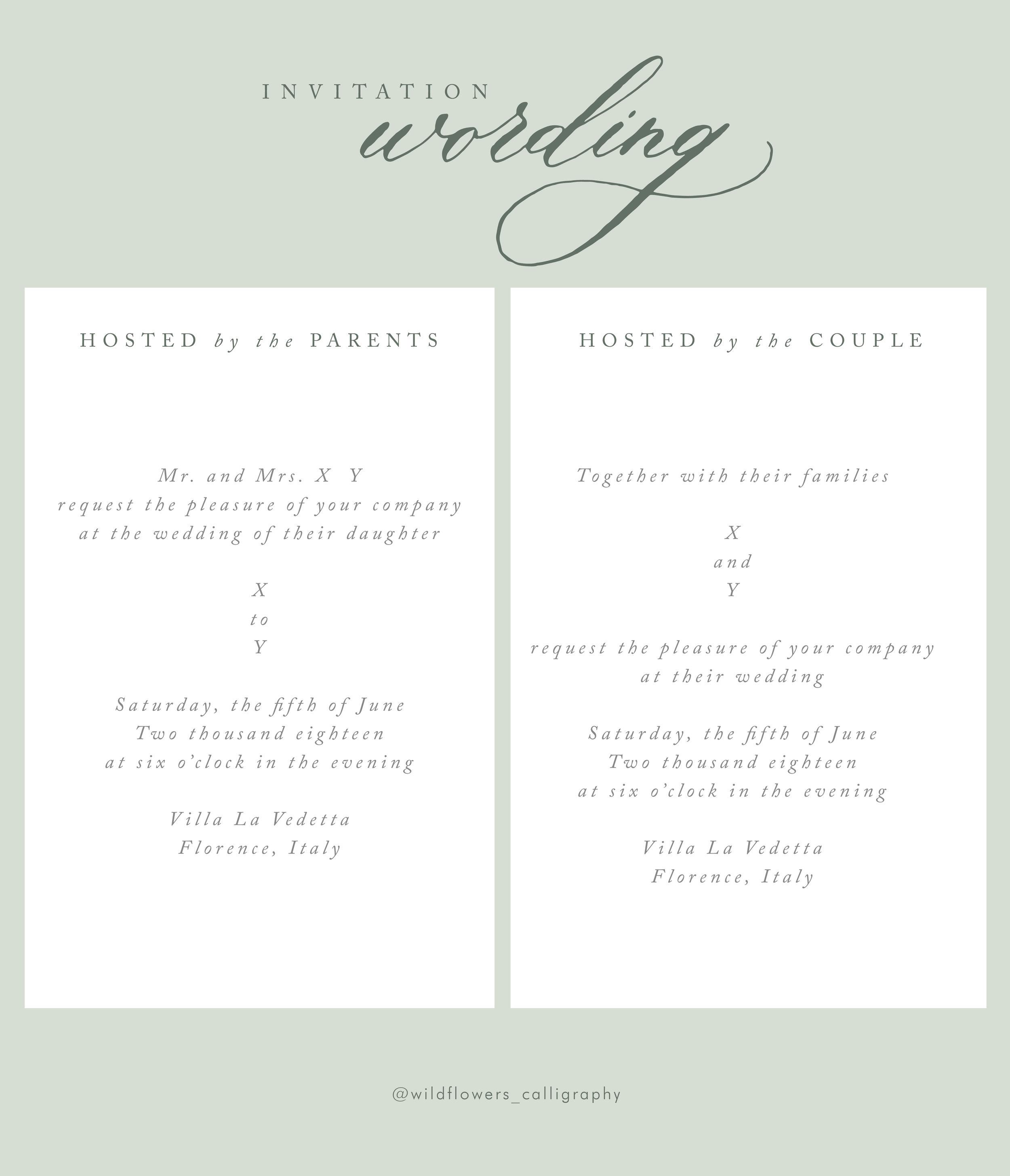 Partecipazioni Matrimonio Cosa Scrivere.Wildflowers Calligraphy Wedding Invitations 101 Cosa Scrivere
