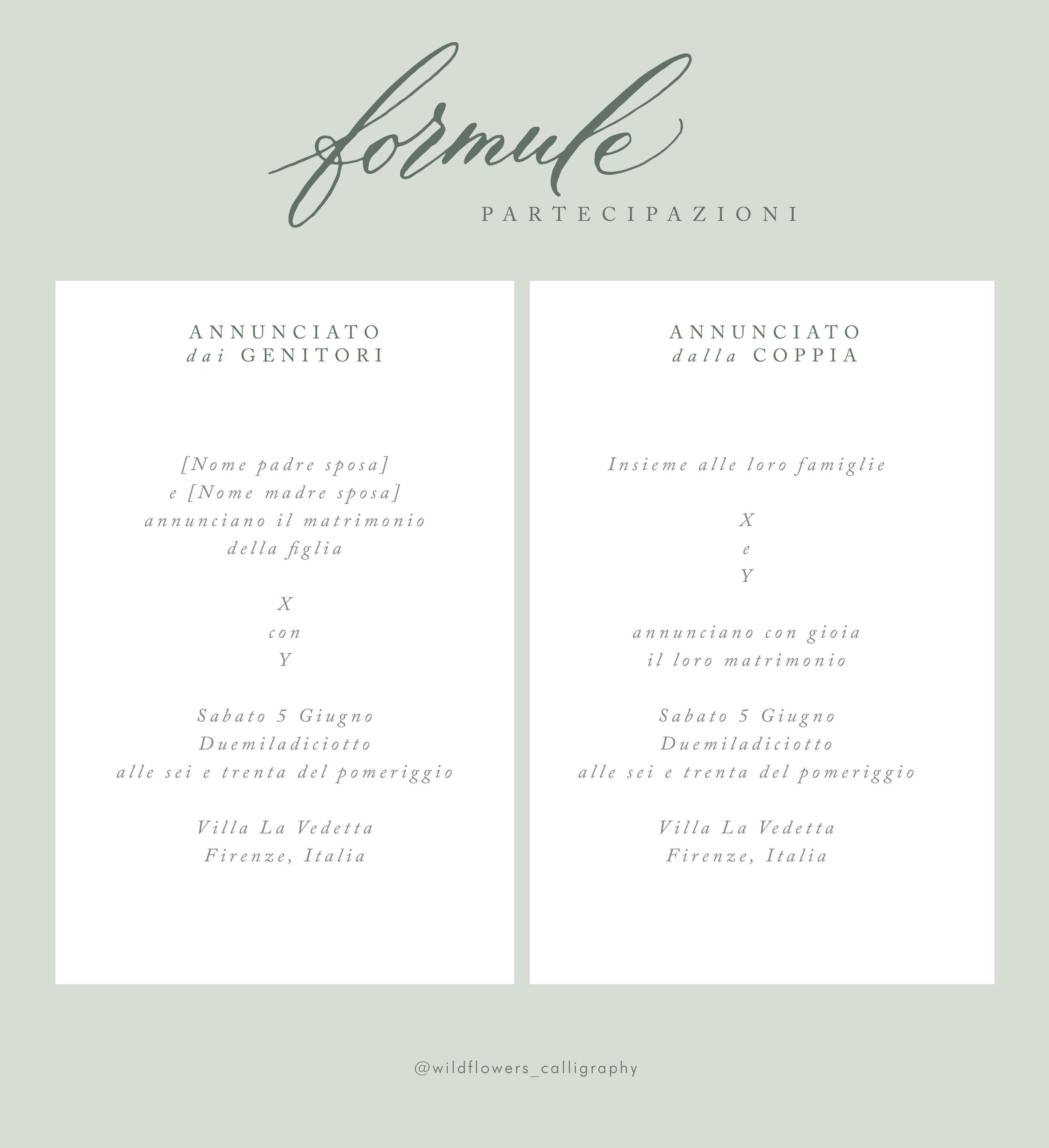 Partecipazioni Matrimonio Genitori.Wildflowers Calligraphy Wedding Invitations 101 Cosa Scrivere