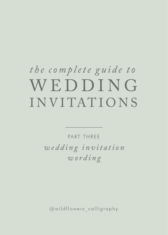 Partecipazioni Matrimonio Testo.Wildflowers Calligraphy Wedding Invitations 101 Cosa Scrivere