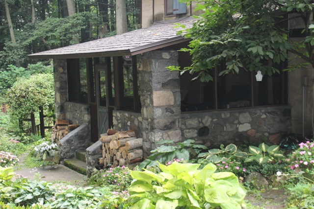 FIELDSTONE PORCH AT THE HUMPS