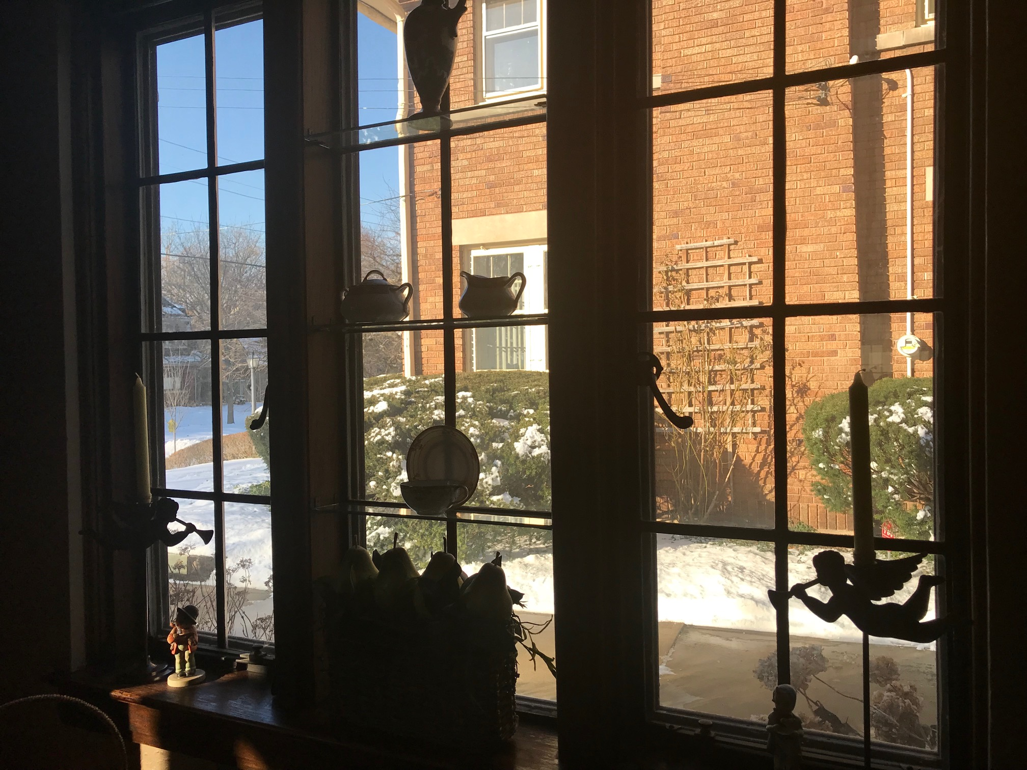 VIEWING THE NEIGHBORHOOD THROUGH THE DINING ROOM