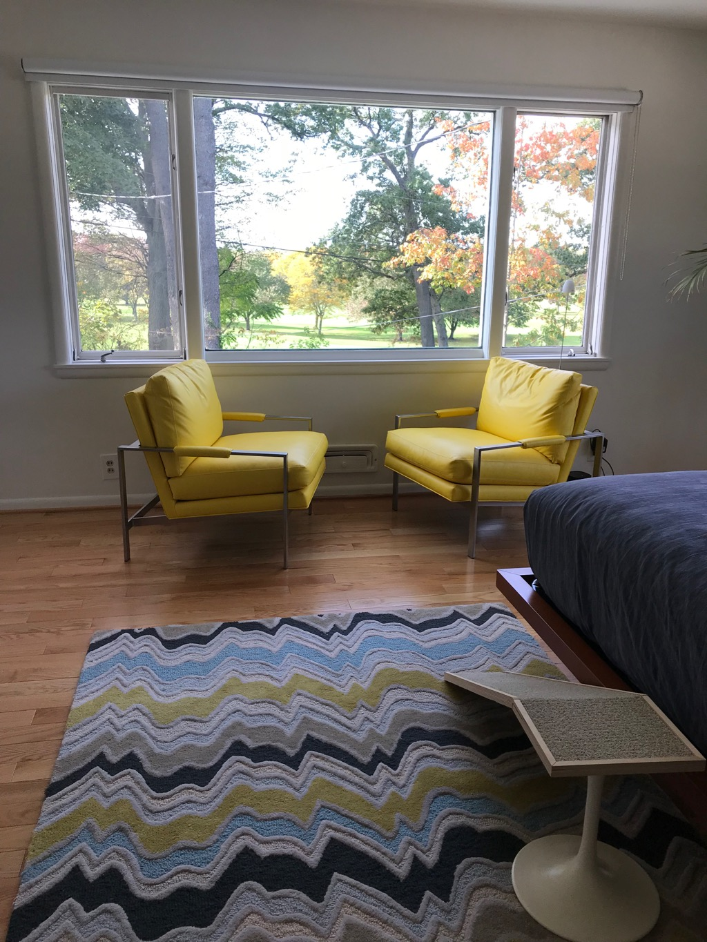 MASTER BEDROOM YELLOW CHAIRS
