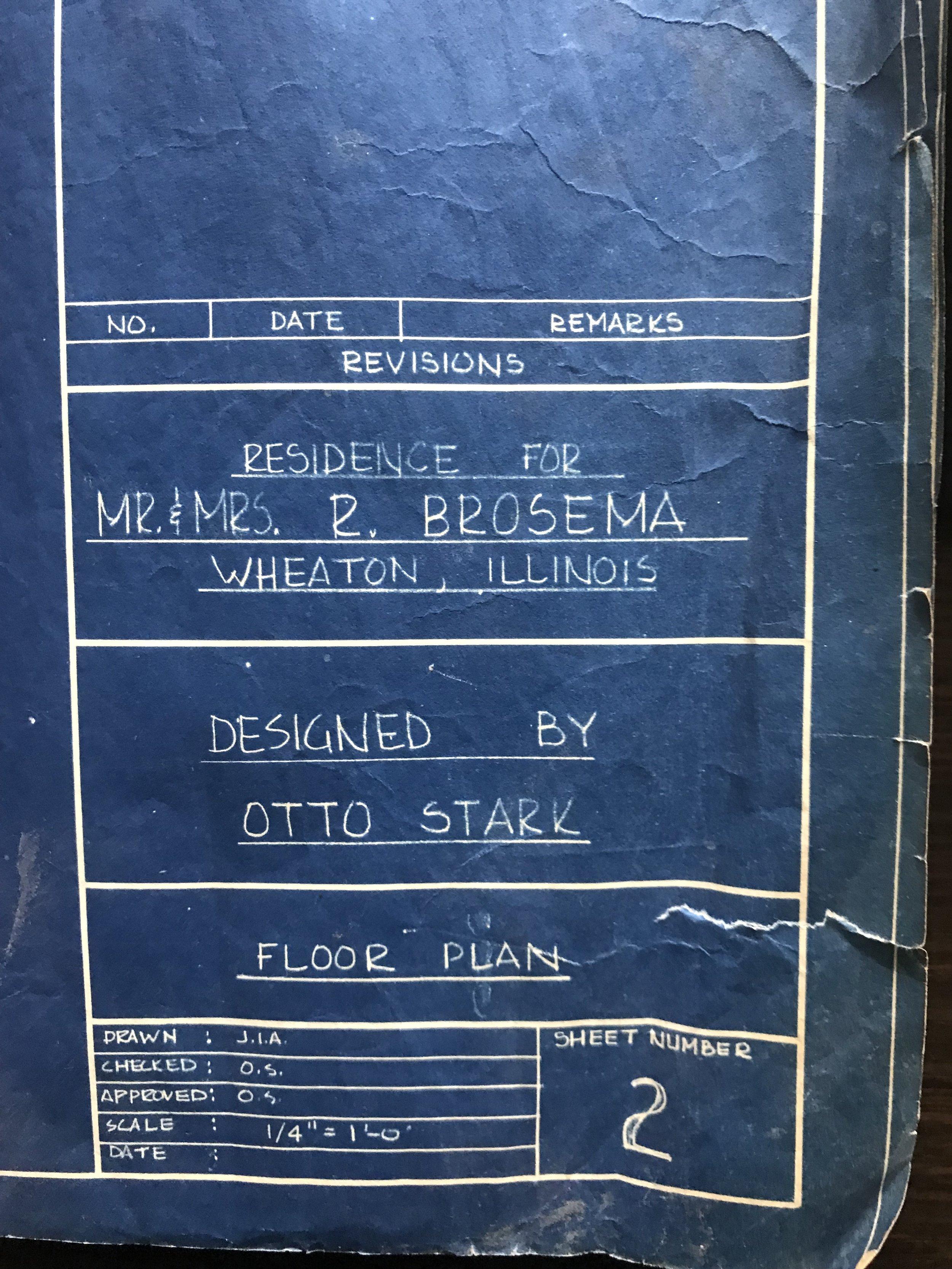 Original Blueprints by Otto Stark