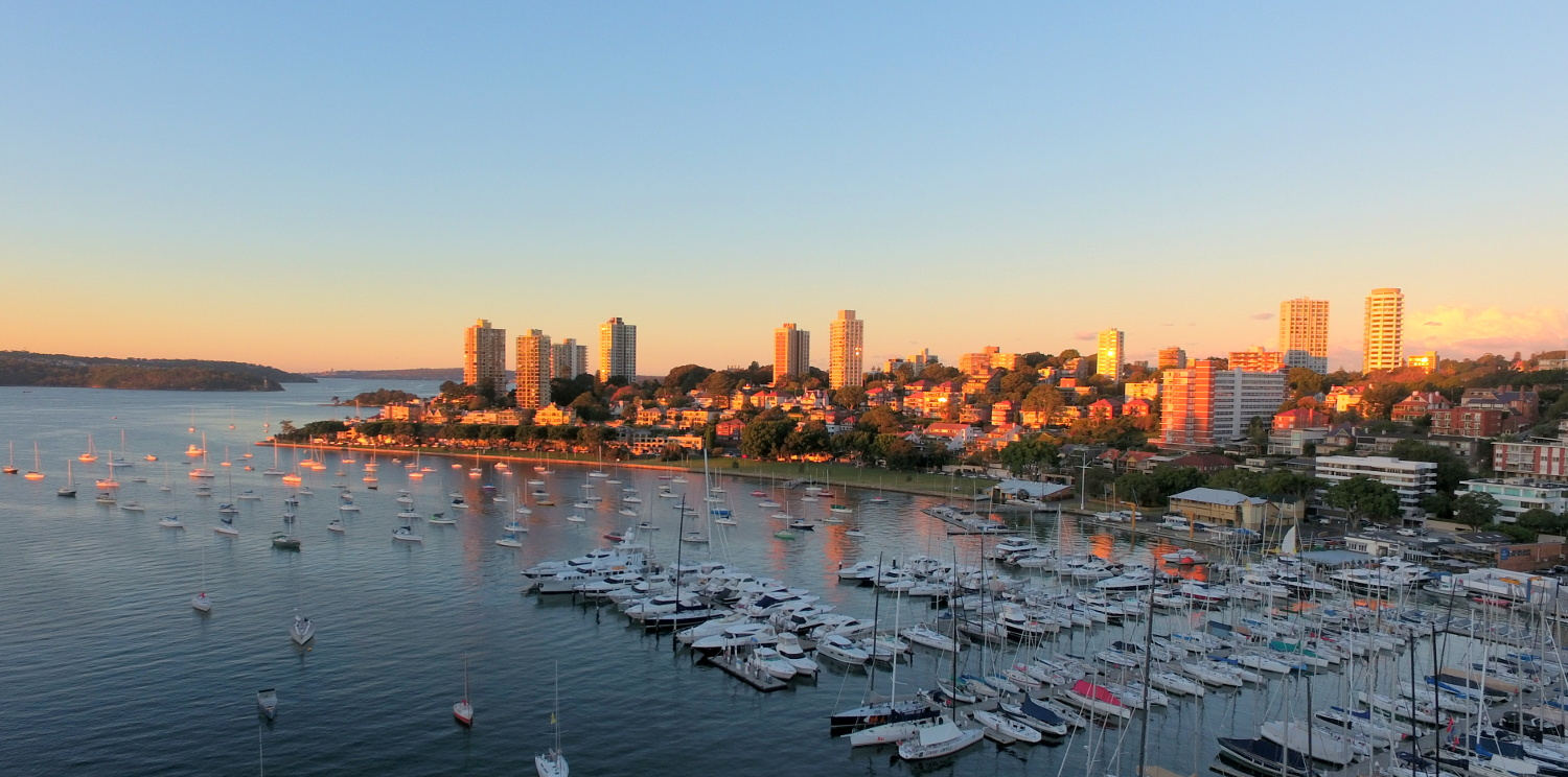 Rushcutters Bay and Darling Point at Sunset