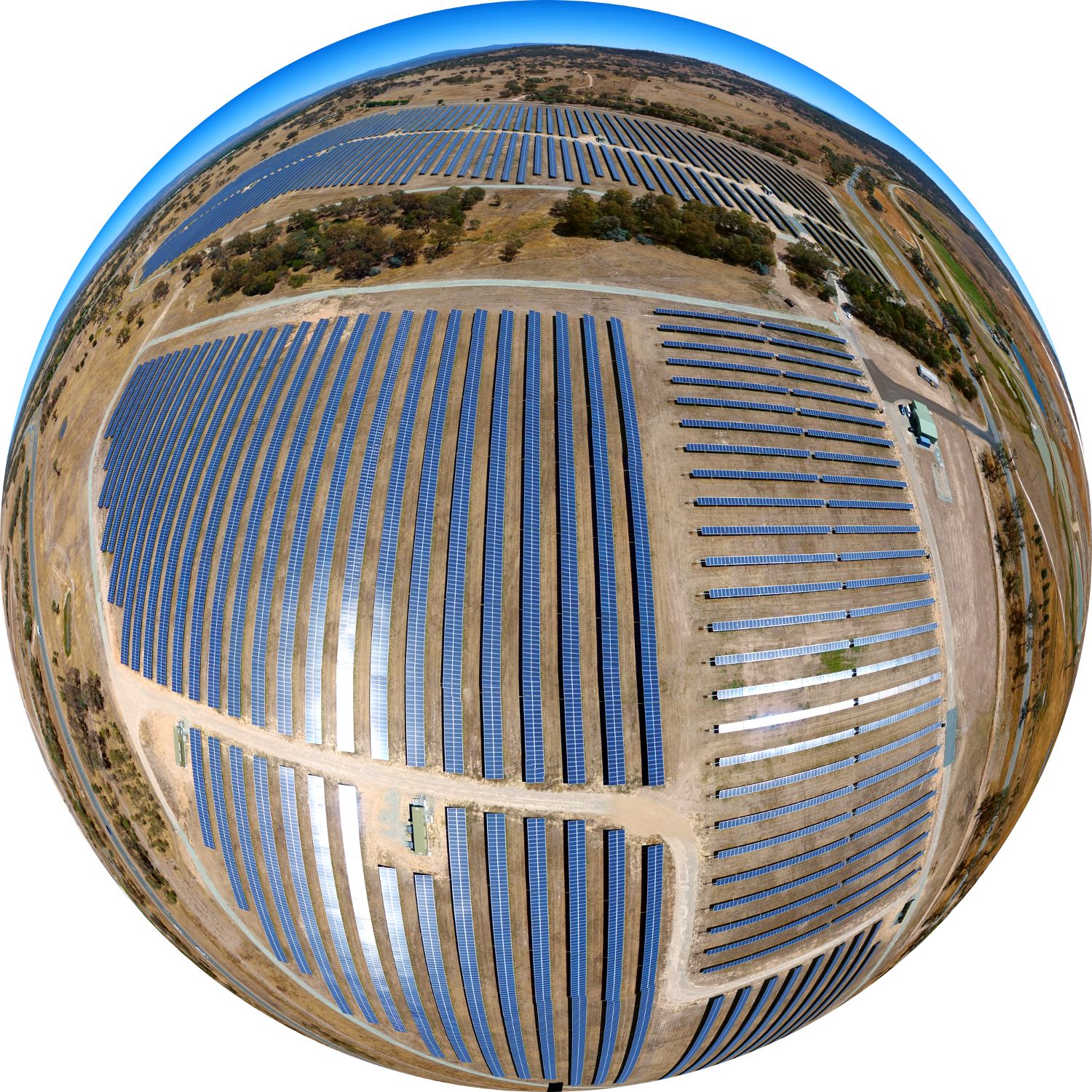 Fish Eye View of the Mugga Lane Solar Park