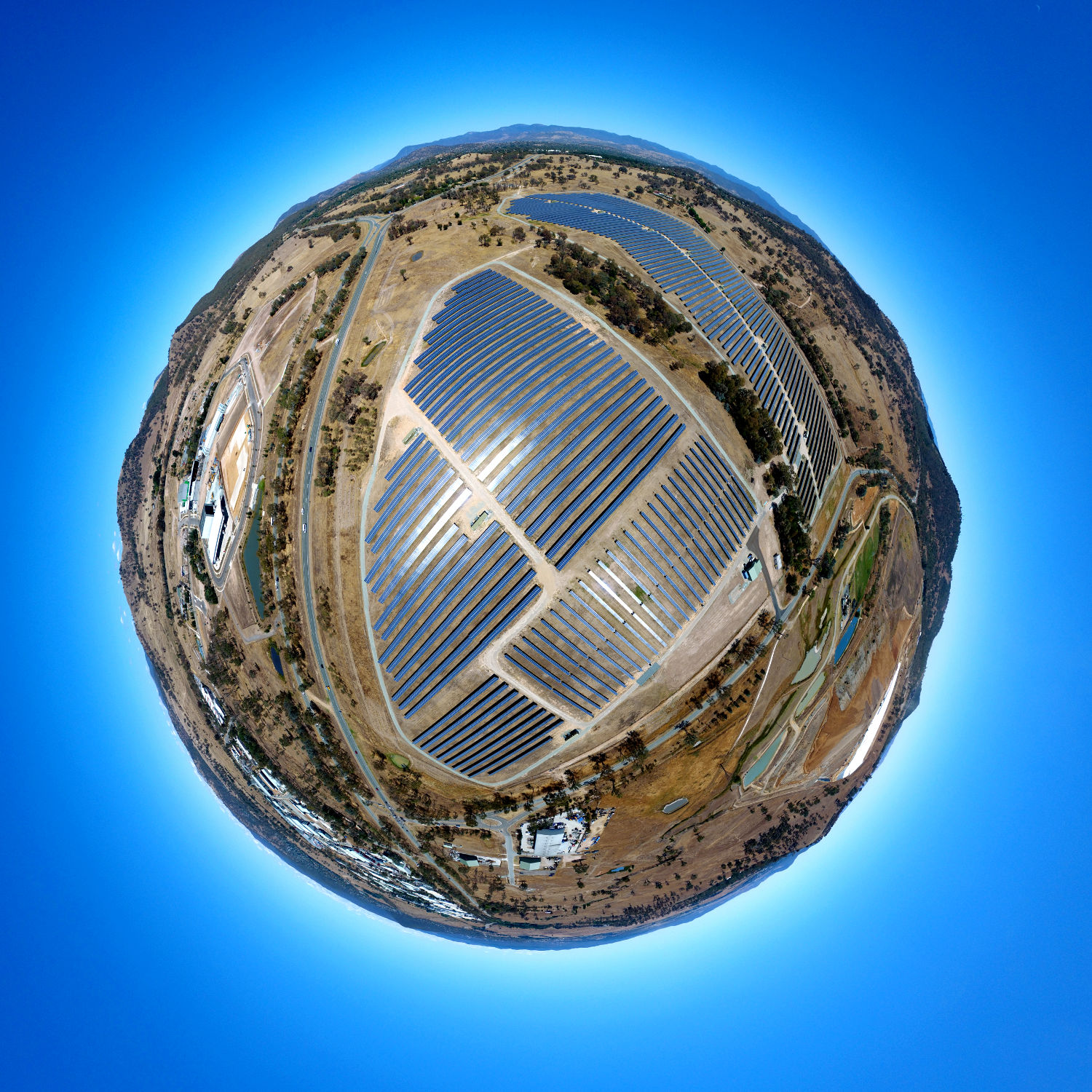 Small World View of the Mugga Lane Solar Park