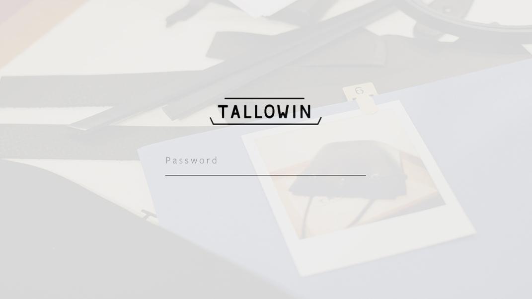 Tallowin client commission portal - password