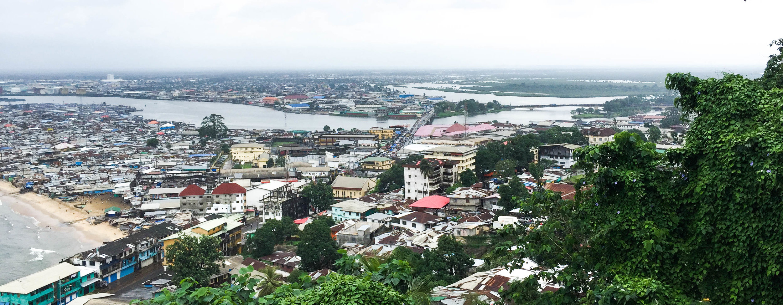 Overlooking West Point from the Ducor hotel ruins, Liberia