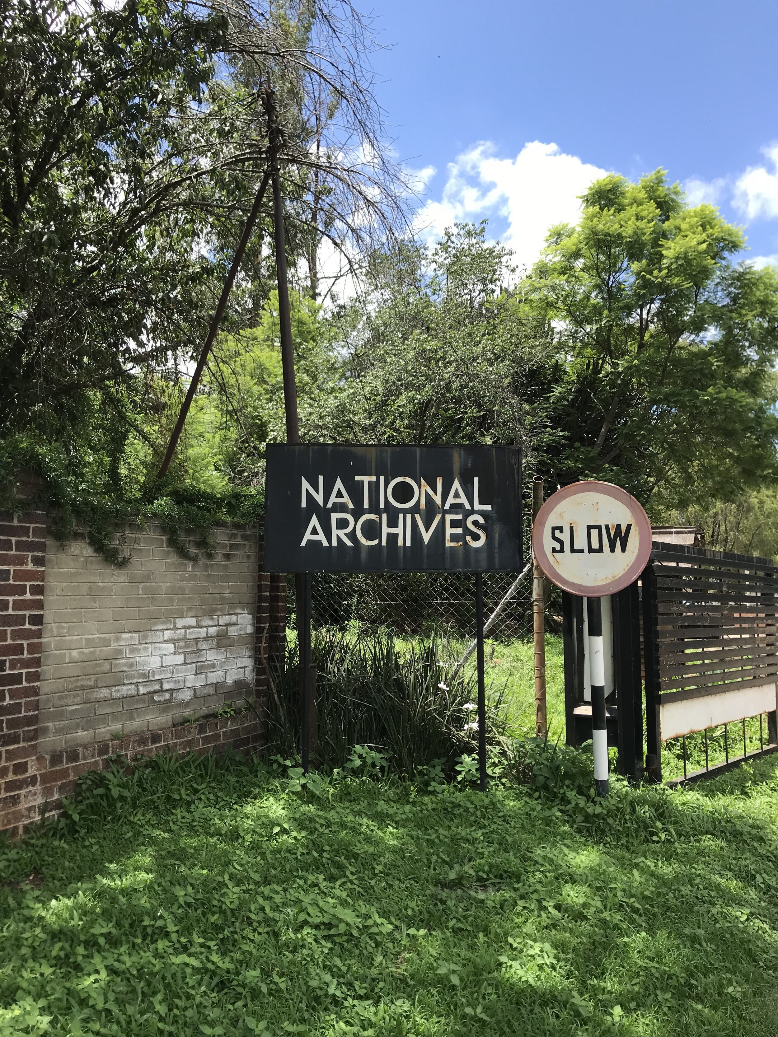 Entrance to the National Archives of ZImbabwe (2018)