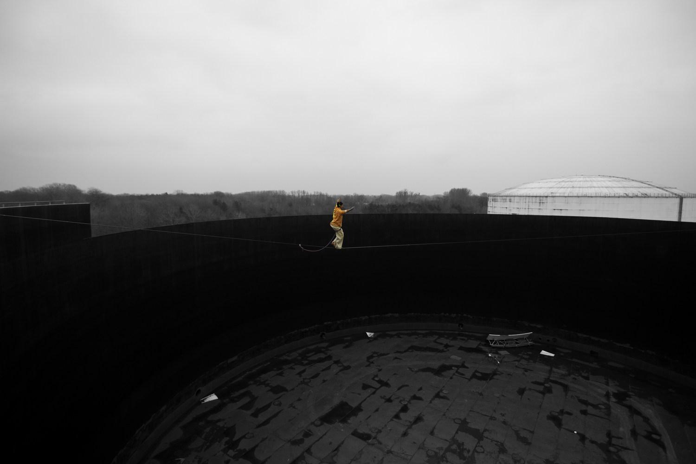 """Rusty Tank"" – 50m lang – 20m hoch (Type18) – FA: Alexander Schulz"
