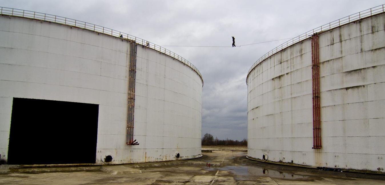Ölrausch II – 28m lang – 20m hoch (tubular webbing) – FA: Mirko Prohaska