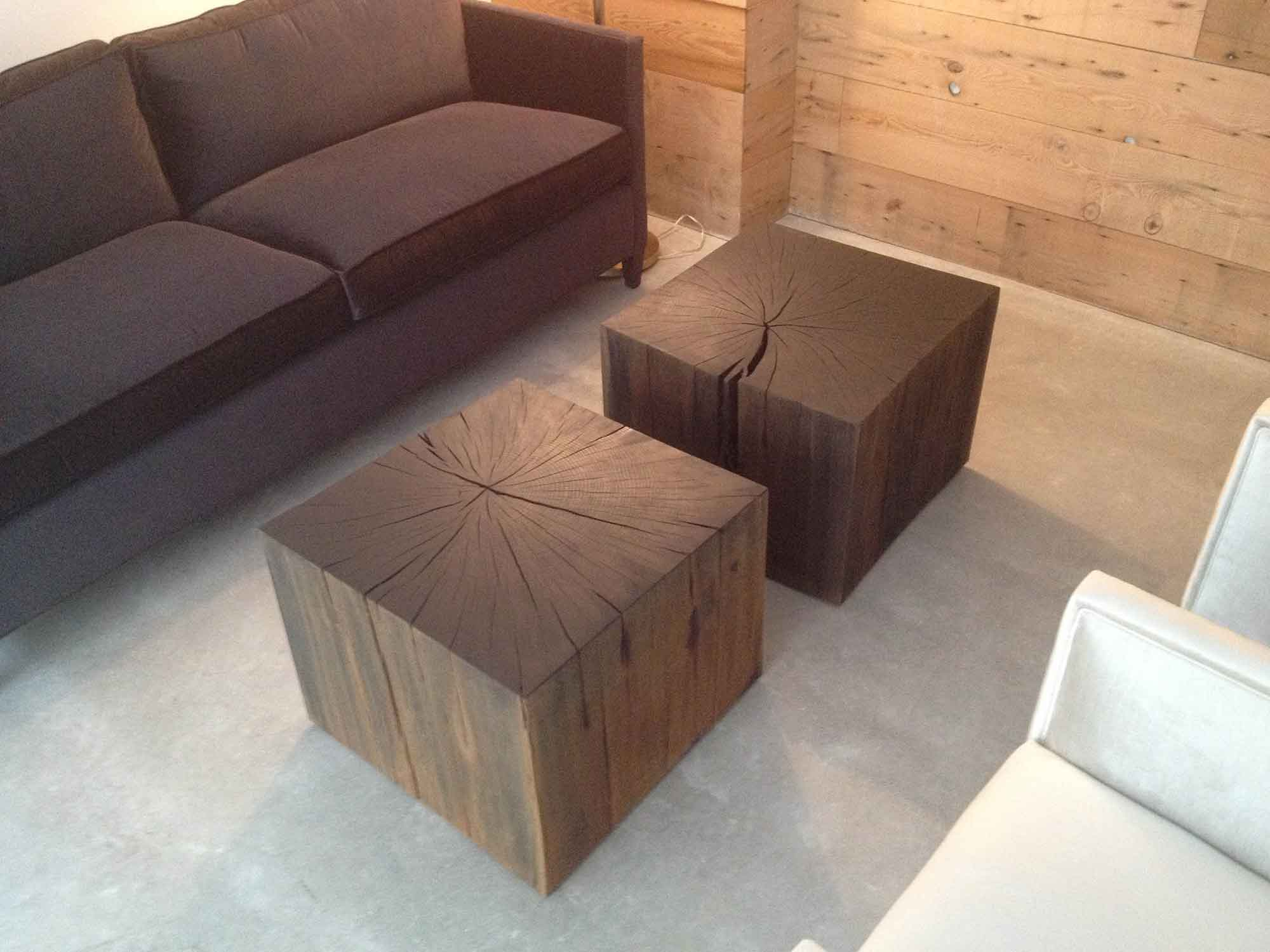 Roundhouse Cube Coffee Tables Wickham Solid Wood Studio