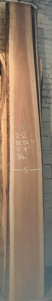 "BC0608TP2-2    11'-4"" L x 14.5"" W x 2-1/4"" T    31 bf @ $20/bf    $616"
