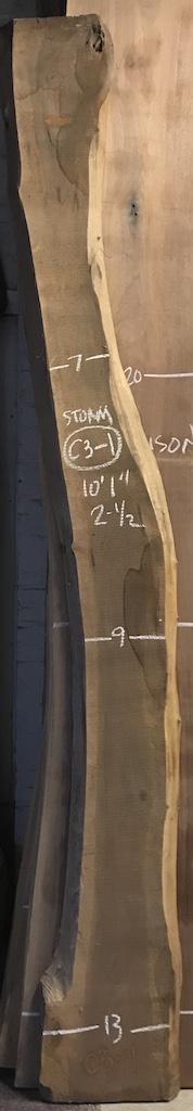 """BW0512STORM-C3-1    10'-1"""" L x 9"""" W x 2.5"""" T    18.9 bf @ $20/bf    $378"""