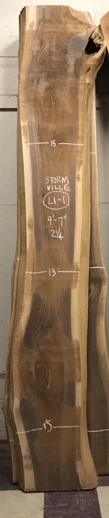 """BWSTORM-L1-1    9'-7"""" L x 15"""" W x 2.25"""" T    27 bf @ $20/bf    $539"""