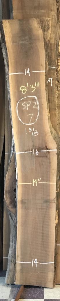 """BW1013SP2 - 7    8'-3"""" L x 14"""" W x 1-3/8"""" T    13.2 bf @ $20/bf    $265"""