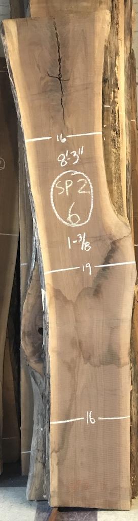 """BW1013SP2 - 6    8'-3"""" L x 17"""" W x 1-3/8"""" T    16.1 bf @ $20/bf    $321"""