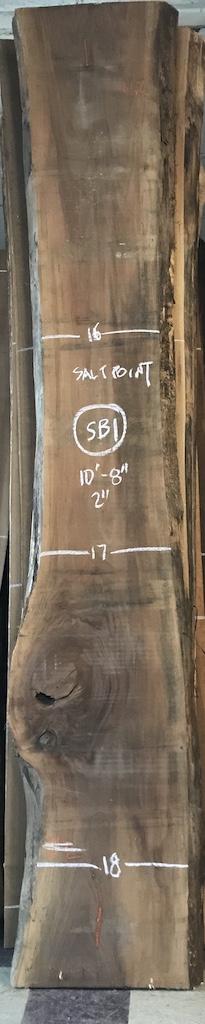 """BW0913SB - 1    10'8"""" L x 17"""" W x 2"""" T    30.2 bf @ $20/bf    $604"""