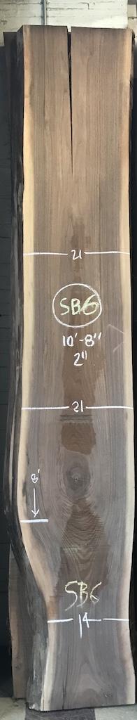 """BW0913SB - 6    10'8"""" L x 21"""" W x 2"""" T    37.3 bf @ $20/bf    $747"""