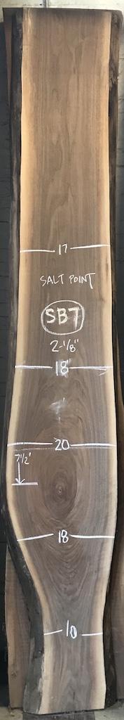 """BW0913SB - 7    10'8"""" L x 18"""" W x 2"""" T    32 bf @ $20/bf    $640"""