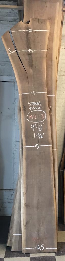"""BWSTORM-M2-3    9'-6"""" L x 15"""" W x 1.75"""" T    20.8 bf @ $20/bf    $416"""