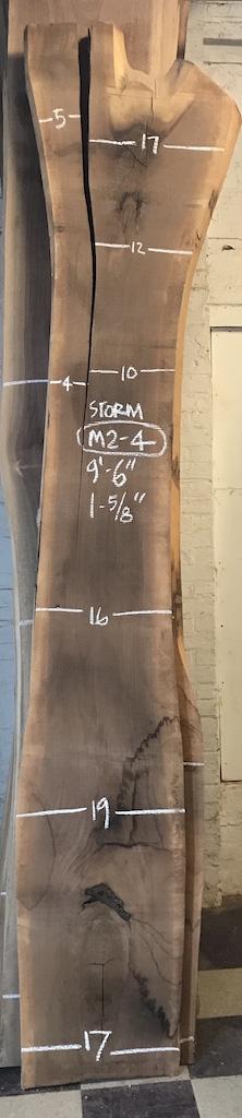 """BWSTORM-M2-4    9'-6"""" L x 16"""" W x 1.625"""" T    20.6 bf @ $20/bf    $412"""