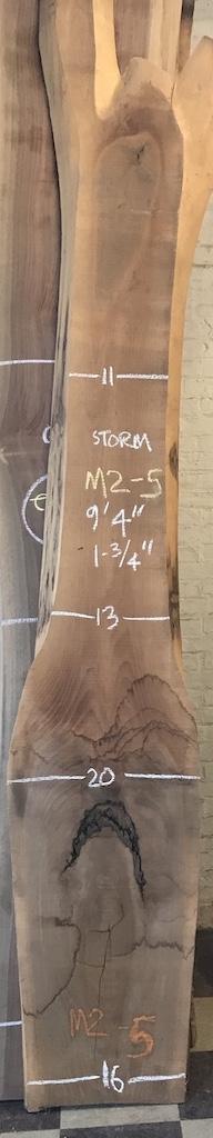 """BWSTORM-M2-5    9'-6"""" L x 15"""" W x 1.75"""" T    20.8 bf @ $20/bf    $416"""