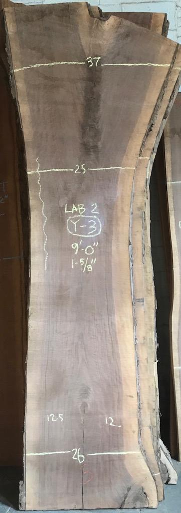 """BW1112LAB2-Y3    9'-0"""" L x 26"""" W x 1.625"""" T    31.7 bf @ $25/bf    $792"""
