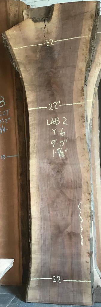 """BW1112LAB2-Y6    9'-0"""" L x 22"""" W x 1.675"""" T    26.8 bf @ $25/bf    $670"""