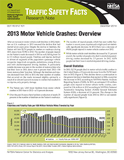 NHTSA Report: Truck Crash Related Deaths Increased in 2013
