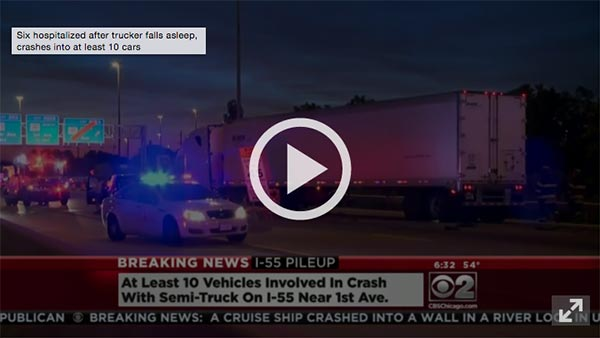A serious truck crash on I-55 caused by driver fatigue