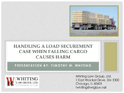 Handling a Load Securement Case When Falling Cargo Causes Harm