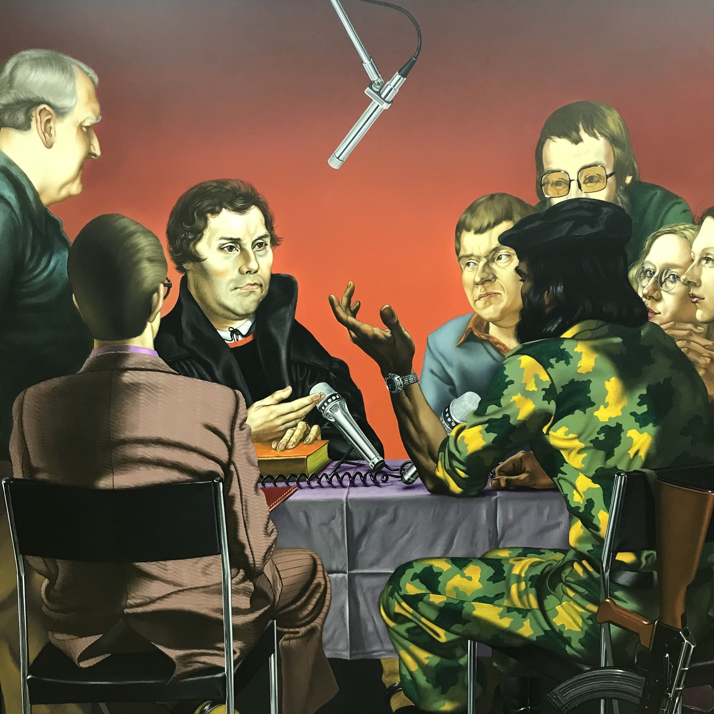 Discussion with Luther Triptych (1984), Uwe Pfeifer • Leucorea Foundation