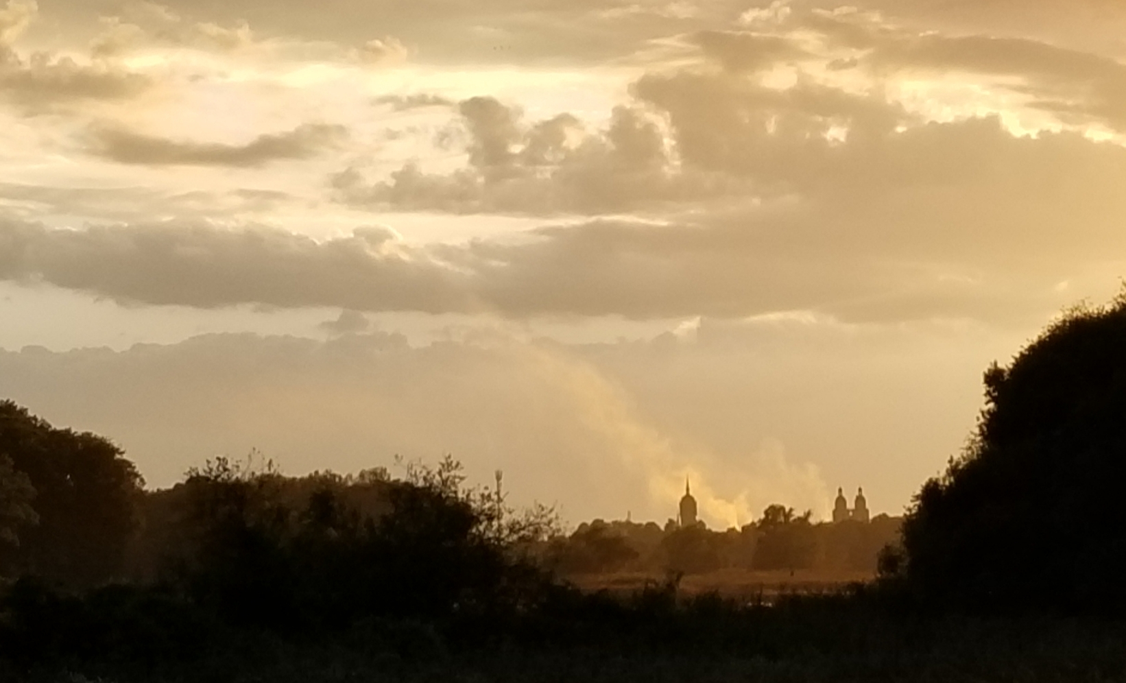 Sunset over the Wittenberg skyline.
