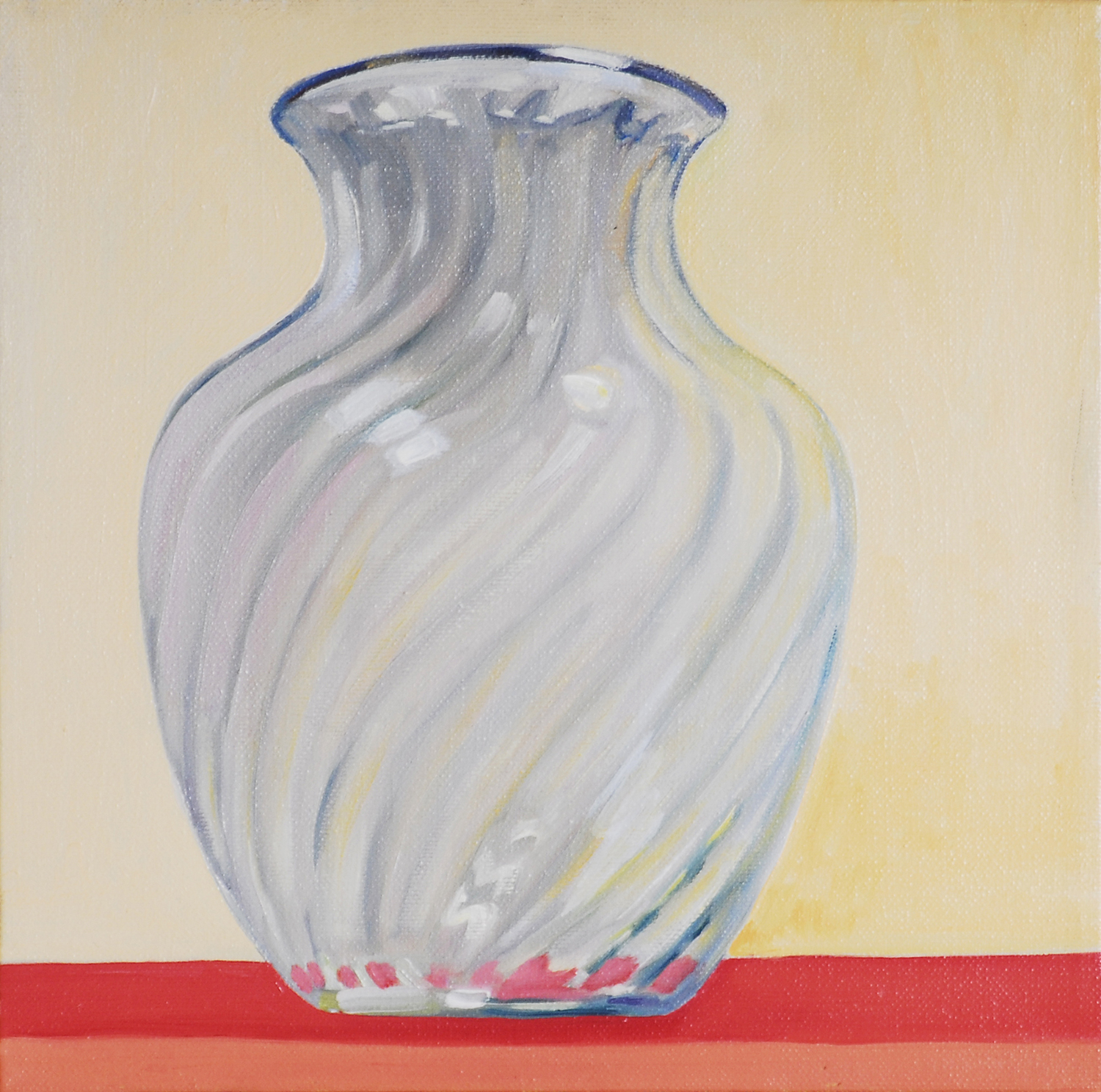 Glass Vase , oil on canvas, 10 x 10 in.