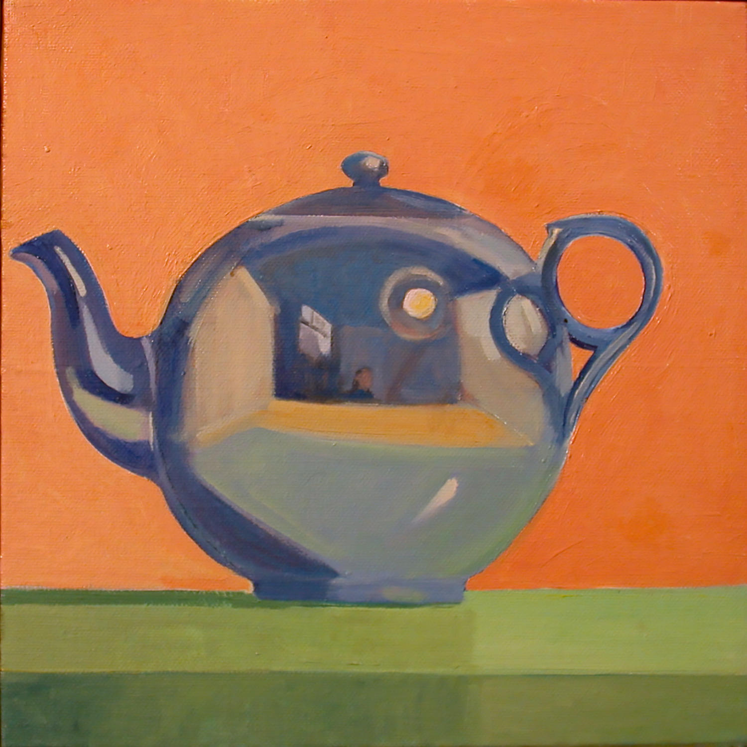 Blue Tea Pot,  oil on canvas, 10 x 10 in.