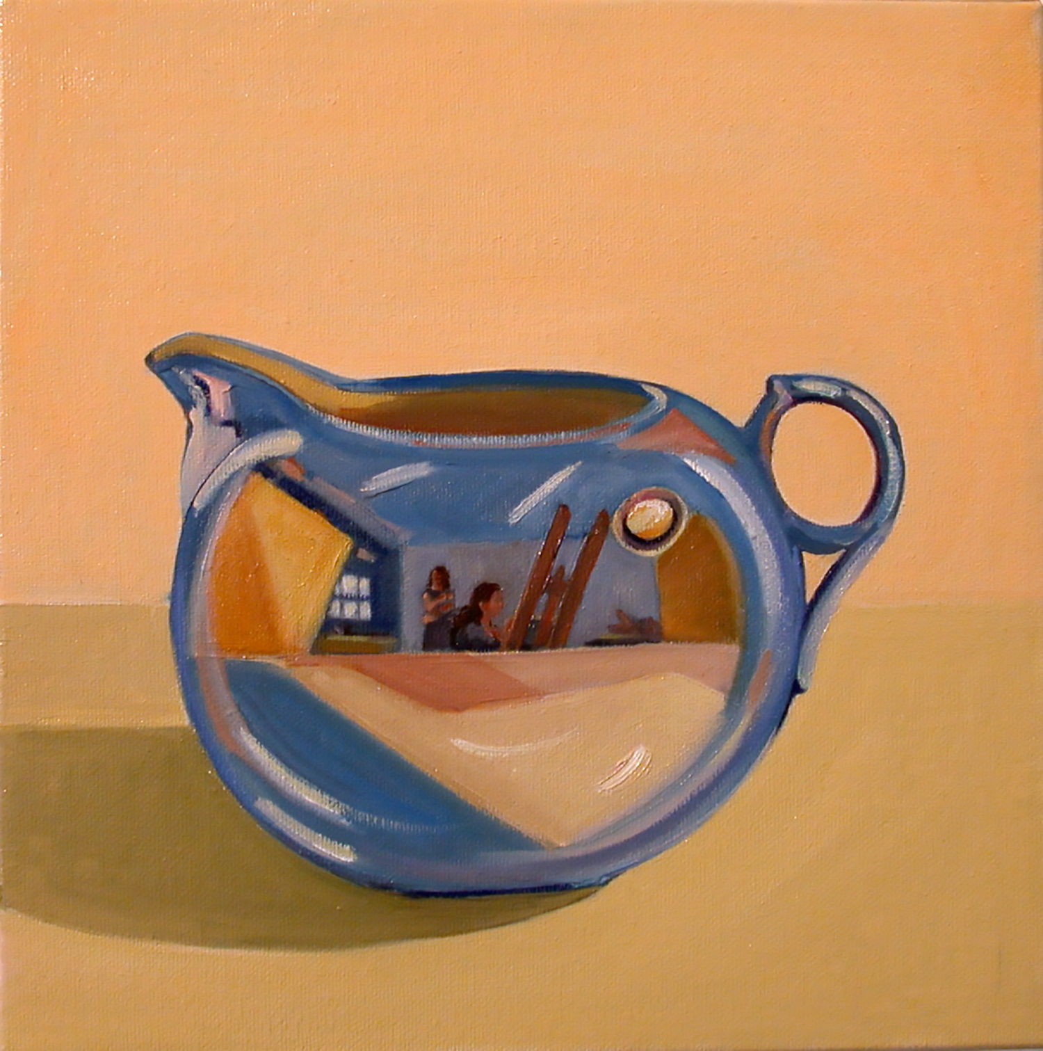 Creamer , oil on canvas, 10 x 10 in.