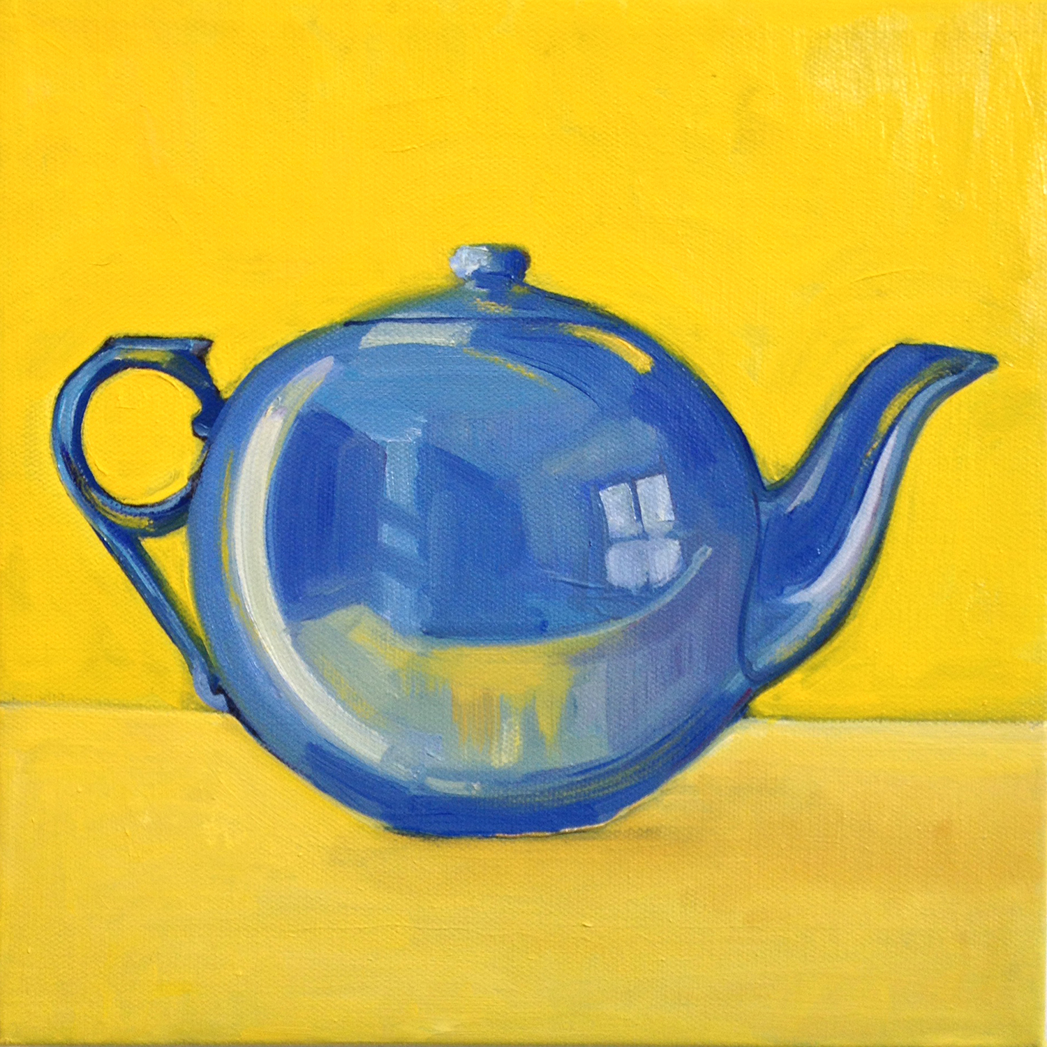Blue , oil on canvas, 10 x 10 in.