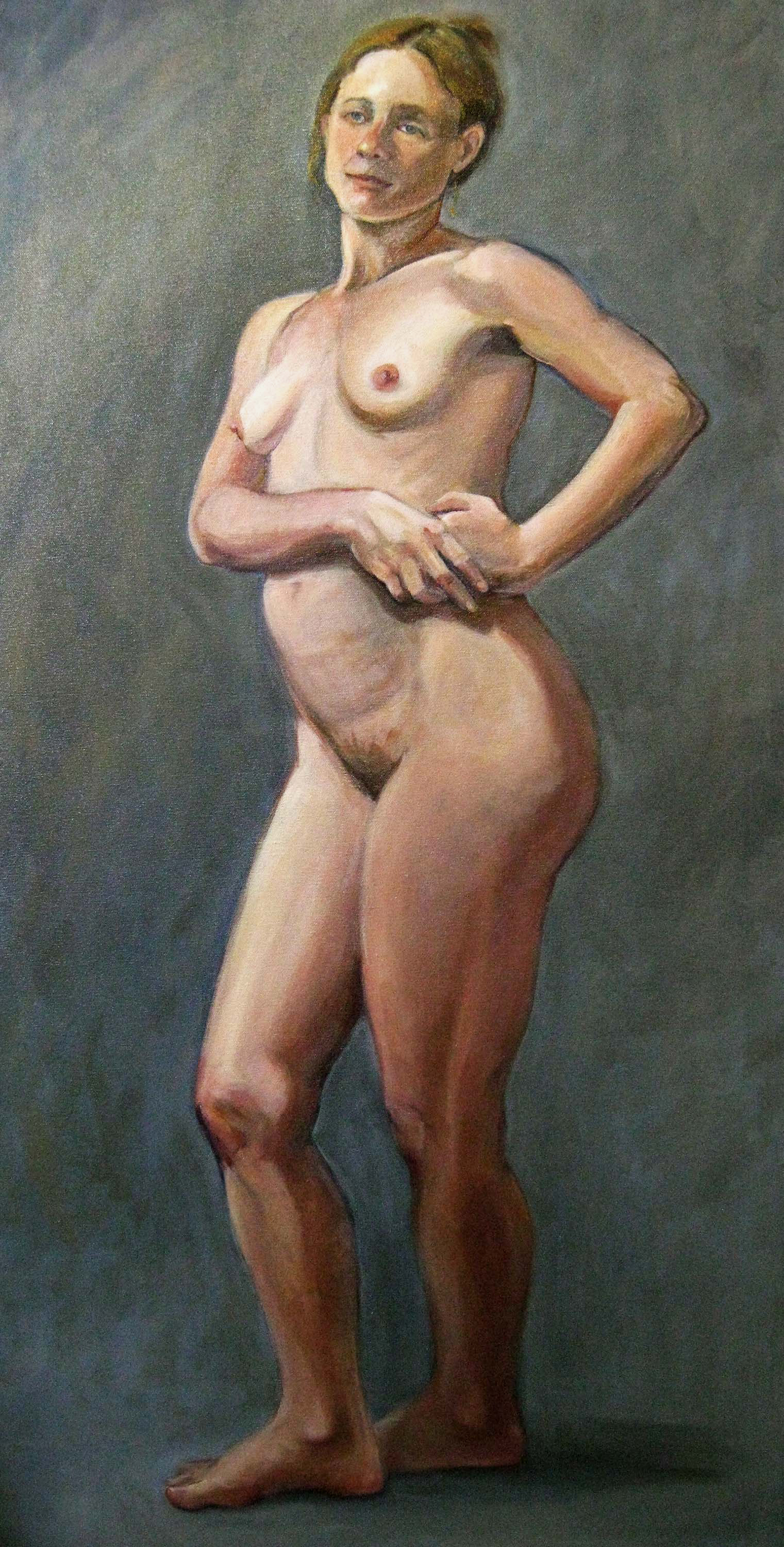 Angela , oil on canvas, 48 x 24 in.