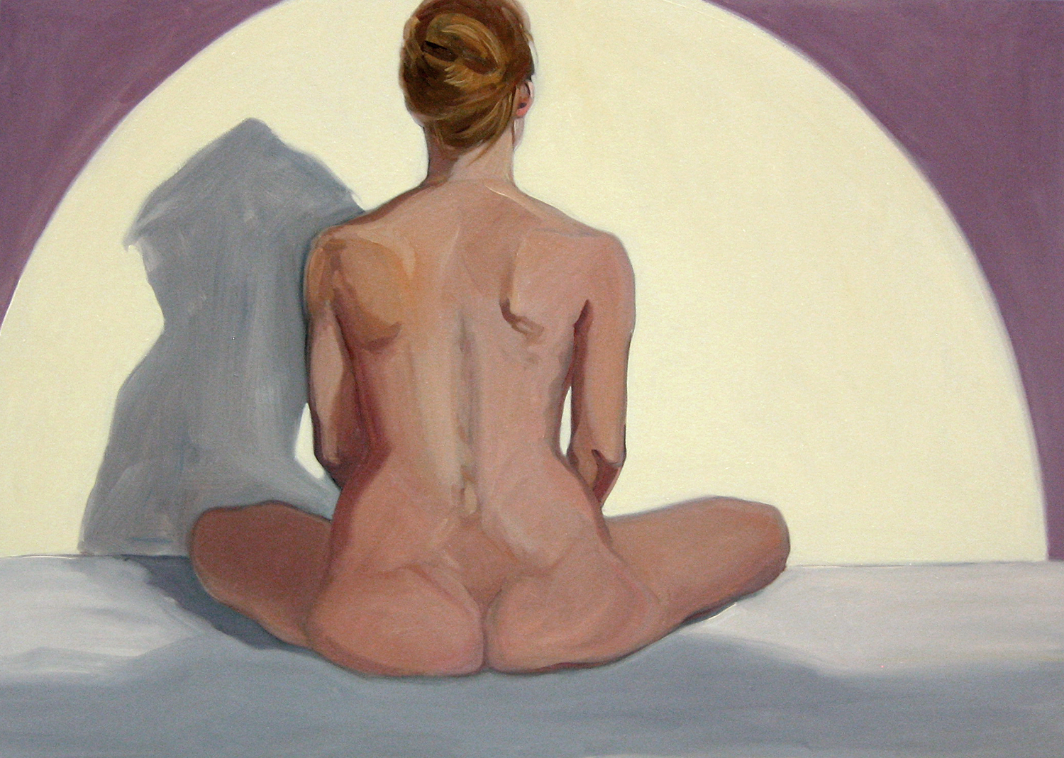 Linda's Back , oil on canvas, 40 x 60 in.