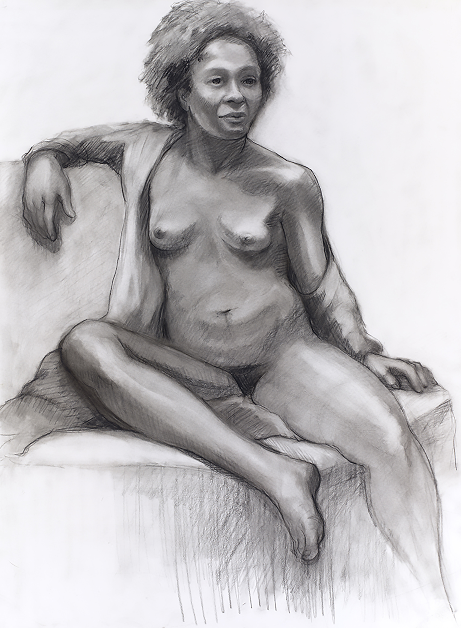 Karole , charcoal on paper, 30 x 22 in.